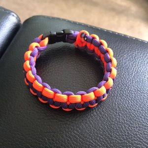 Clemson colors Paracord bracelet